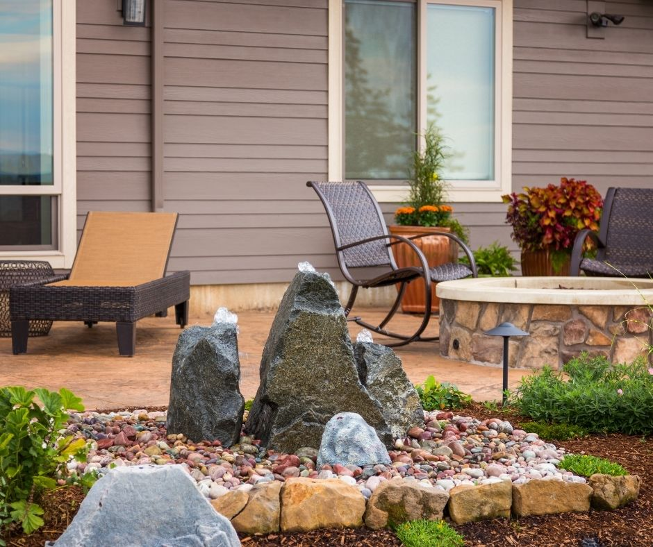 Add a water feature as a patio upgrade